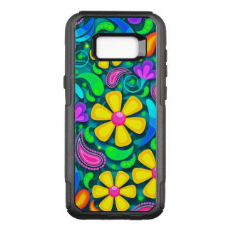 Colorful Floral Pattern OtterBox Commuter Samsung Galaxy S8+ Case