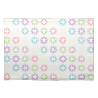 Colorful floral pattern placemat