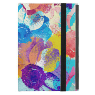 Colorful Floral Pattern with Anemone Flowers Cover For iPad Mini