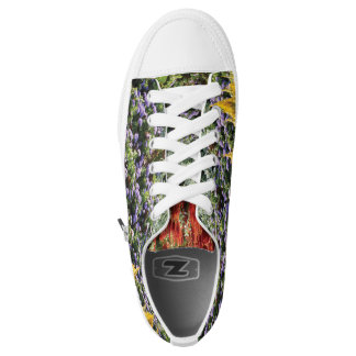 Colorful Floral Photo Custom Zipz Low Top Shoes Printed Shoes