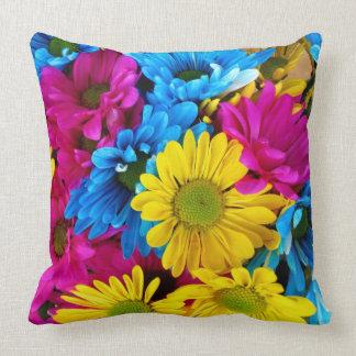 Colorful Floral Pillow