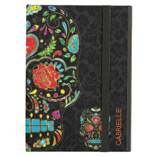 Colorful Floral Sugar Skull Glitter And Gold 2 iPad Air Case