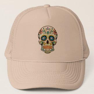 Colorful Floral Sugar Skull Trucker Hat