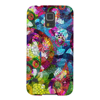 Colorful Floral Swirls Pattern Case For Galaxy S5