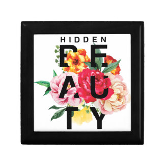 Colorful Floral Typography Hidden Beauty Gift Box