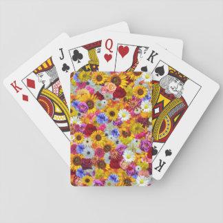 Colorful Floral Wallpaper Poker Deck