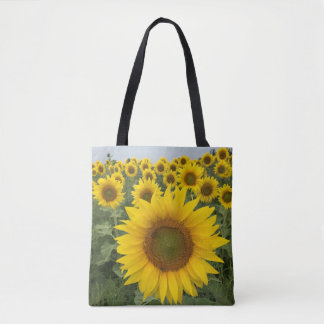 Colorful Floral Yellow Sunflowers Harvest Tote Bag