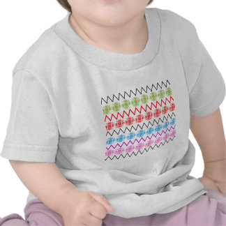 Colorful Floral Zigzag Pattern T Shirts