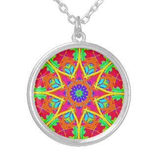 Colorful Flourish Mandala Pendant Necklace