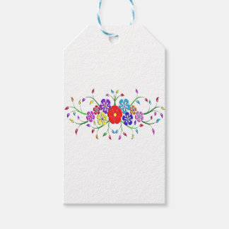 colorful flower bouquet gift tags