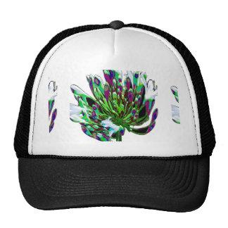 Colorful flower bush bunch white romance valentine trucker hat