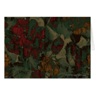 Colorful flower camouflage pattern card