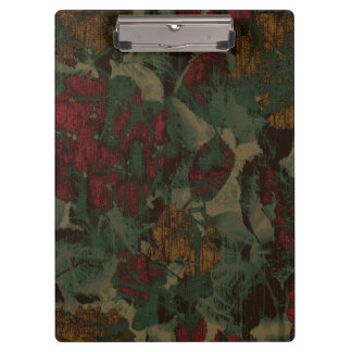 Colorful flower camouflage pattern clipboards