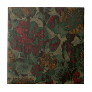 Colorful flower camouflage pattern small square tile