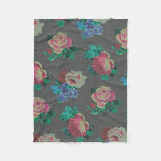 colorful flower decorative rose fleece blanket