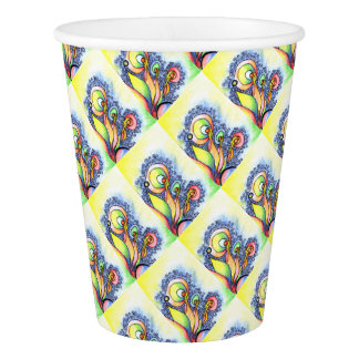 colorful flower design paper cup