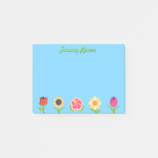 Colorful Flower Emojis Post-it Notes