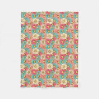 Colorful Flower Fleece Blanket (Small)