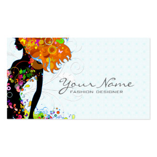 Colorful Flower Girl Business Card Template