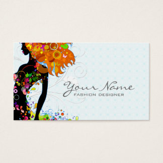 Colorful Flower Girl Business Card