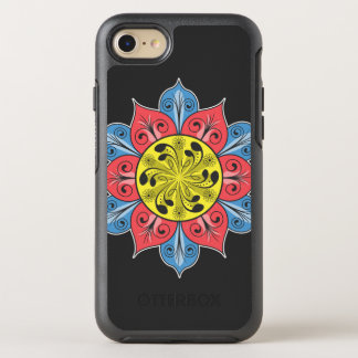Colorful Flower Pattern OtterBox Symmetry iPhone 7 Case