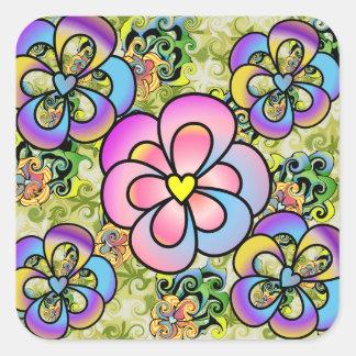 Colorful Flower Pattern Sticker