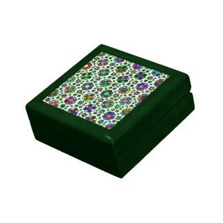 Colorful Flower Pattern Tie Dye Keepsake Box
