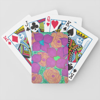 Colorful Flower Pattern Tropical Art Bicycle Playing Cards