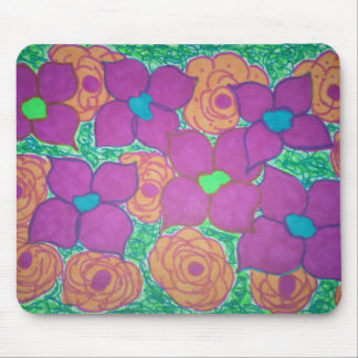 Colorful Flower Pattern Tropical Art Mouse Pad