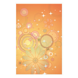 Colorful Flower Pattern Vector Graphic Stationery Paper