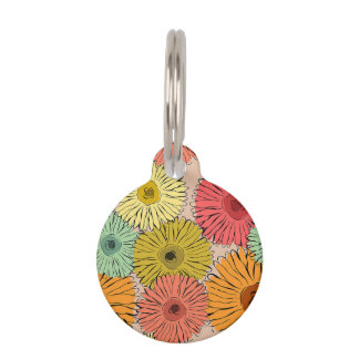 Colorful Flower Pet Tag