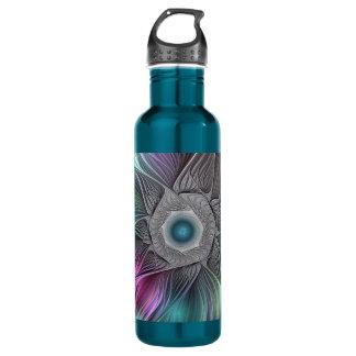 Colorful Flower Power Abstract Modern Fractal Art 710 Ml Water Bottle