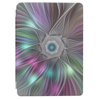 Colorful Flower Power Abstract Modern Fractal Art iPad Air Cover