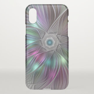 Colorful Flower Power Abstract Modern Fractal Art iPhone X Case