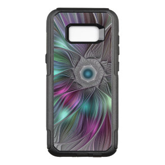 Colorful Flower Power Abstract Modern Fractal Art OtterBox Commuter Samsung Galaxy S8+ Case