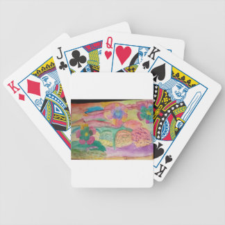 Colorful flower printed items, gifts , fashion. bicycle playing cards