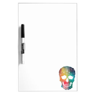 Colorful Flower Skull Dry Erase Board