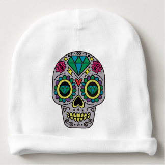Colorful Flower Sugar Skull Baby Beanie