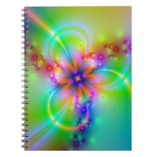 Colorful Flower With Ribbons Note Book