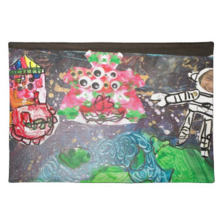 colorful flower with  Skeleton Placemat
