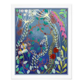 Colorful Flowers. 11.5 Cm X 14 Cm Flyer
