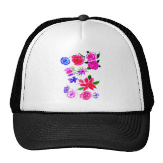 Colorful Flowers 2 Cap