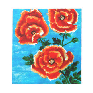 Colorful Flowers 3 Notepad