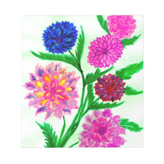Colorful Flowers 4 Notepad