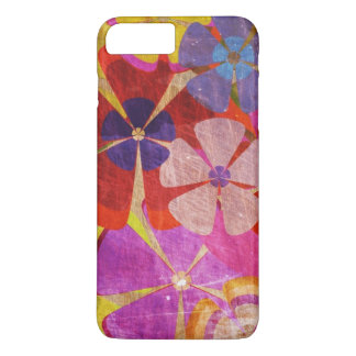 colorful flowers abstract art iPhone 7 plus case