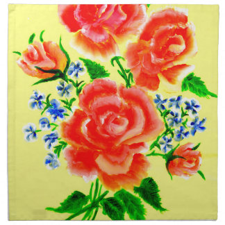Colorful Flowers Art 2 Napkin