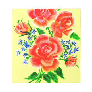 Colorful Flowers Art 2 Notepad