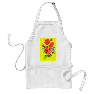 Colorful Flowers Art 2 Standard Apron