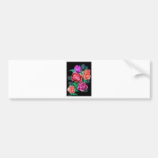 Colorful Flowers Art Bumper Sticker
