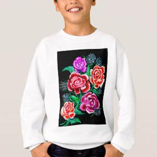 Colorful Flowers Art Sweatshirt